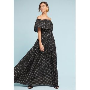Anthropologie Gloria Off-The-Shoulder Maxi Dress